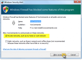 Create Firewall Exception